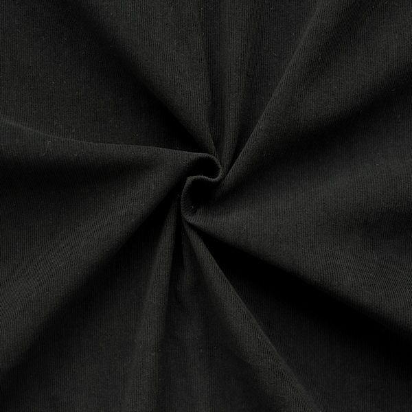 "100% Baumwolle Feincord Babycord ""Fashion Classic"" Farbe Schwarz"