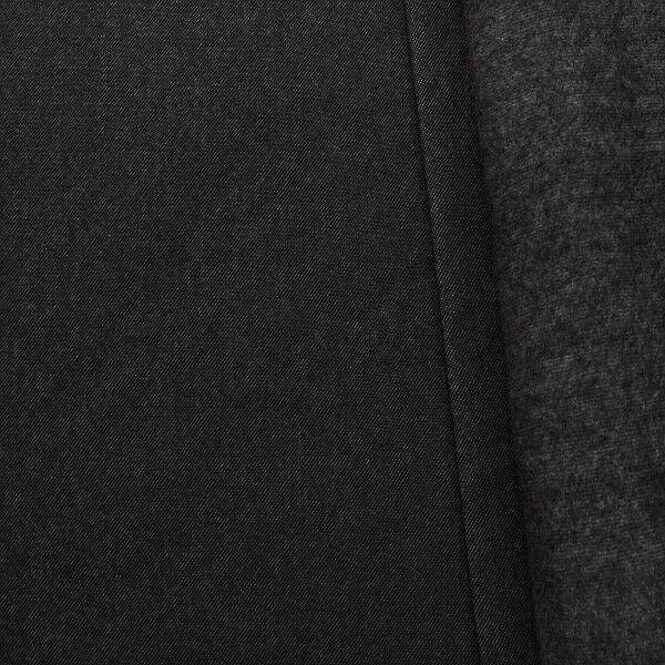 Sweatshirt Baumwollstoff Jeans-Optik Schwarz