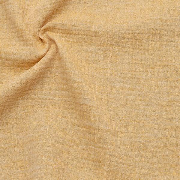 Baumwolle Musselin Double Gauze Melange Ocker-Gelb