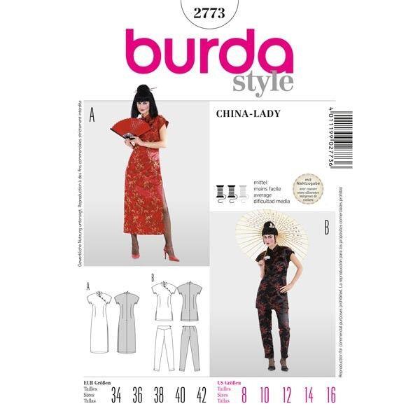 Suzi Wong, Asia - Kleid und Zweiteiler, Gr. 34 - 42, Schnittmuster Burda 2773