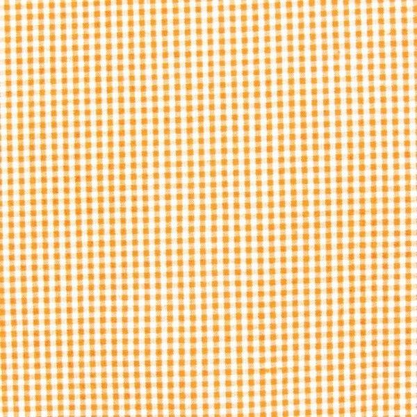 """Baumwollstoff Hemden Qualität Vichy """"Karo mini"""" Farbe Orange-Weiss"""