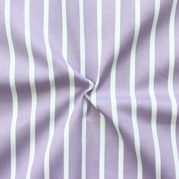 "100% Baumwolle Köper ""Fashion Stripes"" Farbe Hell-Lila"