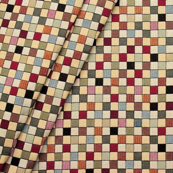 """Gobelin Möbelstoff / Dekostoff """"Würfel"""" Farbe Multicolor"""