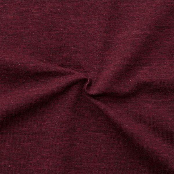 """Sweatshirt Baumwollstoff """"Melange 2"""" Farbe Bordeaux"""