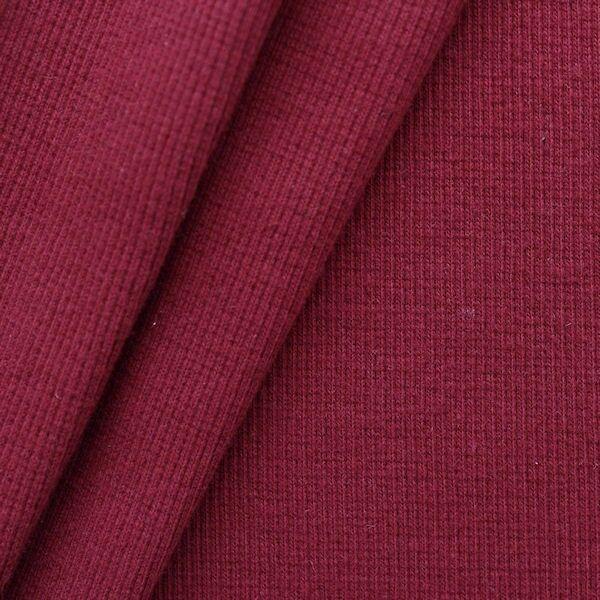 Baumwoll Bündchenstoff Ripp Farbe Weinrot