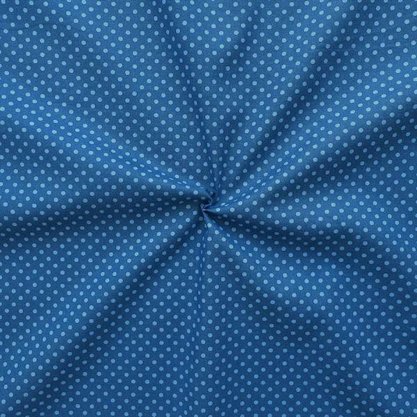 """100% Baumwolle Popeline """"Punkte klein"""" Farbe Blau Hell-Blau"""