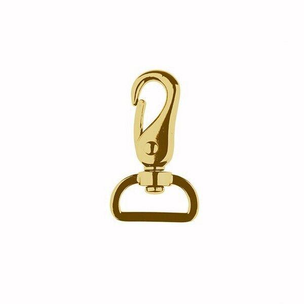Karabinerhaken 25mm Farbe Gold