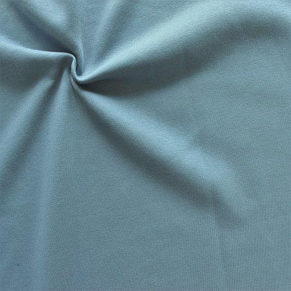 Sweatshirt Baumwollstoff angeraut Tauben-Blau