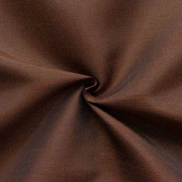 Kleider- / Deko Taft Dupionseide Optik Farbe Dunkel-Braun