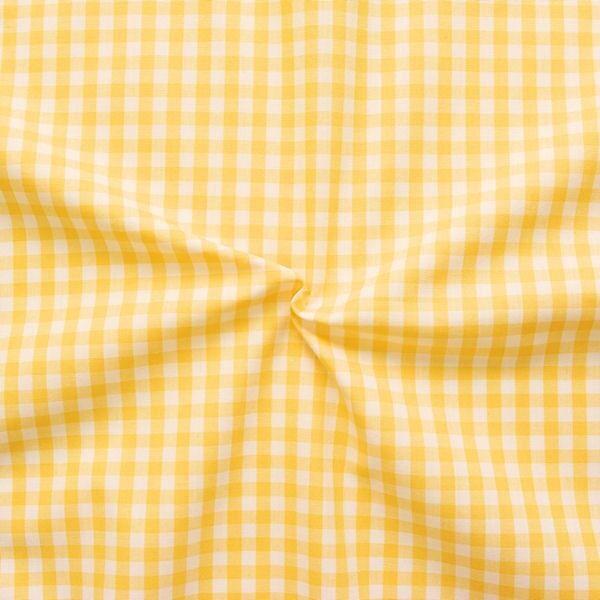 """Baumwollstoff Hemden Qualität Vichy """"Karo mittel"""" Farbe Gelb-Weiss"""
