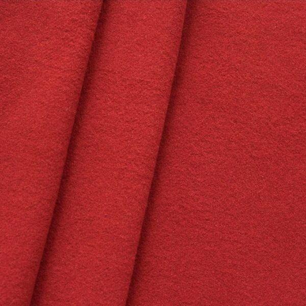 "Mantel Wollstoff ""Klassik"" Farbe Tomaten-Rot"