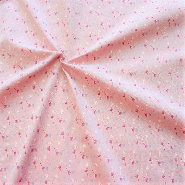Baumwollstoff Pusteblumen klein Rosa