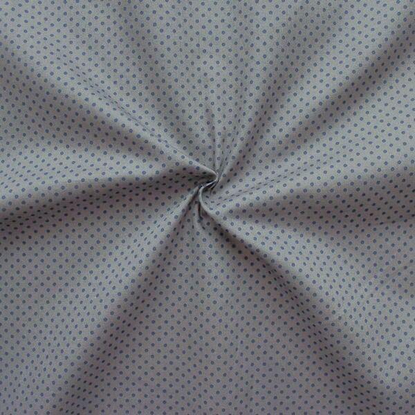 """100% Baumwolle Popeline """"Tupfen Klein"""" Farbe Grau Dunkel-Blau"""