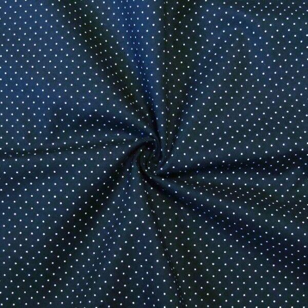 """Baumwollstoff Hemden Qualität """"Tupfen Mini"""" Farbe Marine-Blau"""