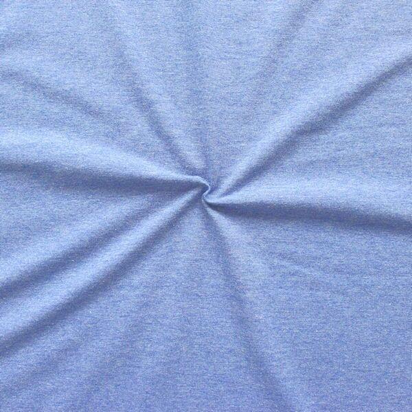 "Baumwoll Stretch Jersey ""Fashion Basic"" Farbe Jeans-Blau melange"