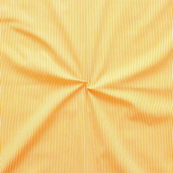 """6,00 Meter 100% Baumwollstoff """"Längsstreifen fein"""" Farbe Gelb-Weiss"""
