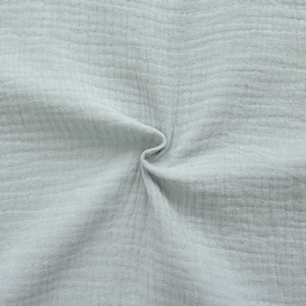100% Baumwolle Musselin Double Gauze Farbe Hell-Grau
