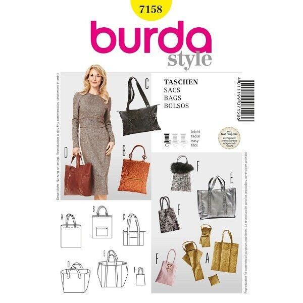 Tasche, Shopper in unterschiedlichen Größen, Schnittmuster Burda 7158