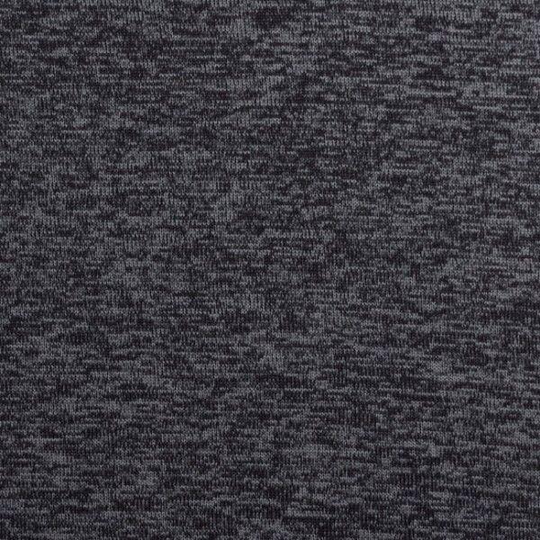 Strick Fleece Melange Dunkel-Grau