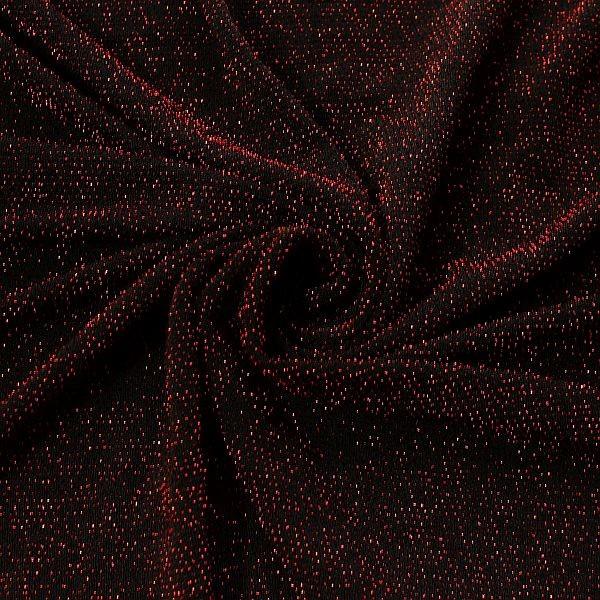 Slinky Jersey Glitzer Rot