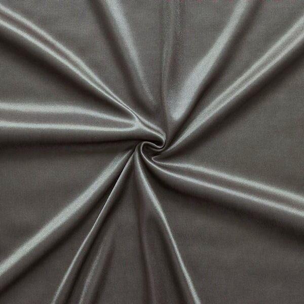Charmeuse Bekleidungs- Futterstoff Dunkel-Grau