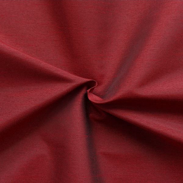 Kleider Deko Taft Dupionseide Optik Rubin-Rot