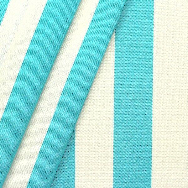 """Markisen Outdoorstoff """"Streifen"""" Breite 160 cm Farbe Türkis-Blau Weiss"""
