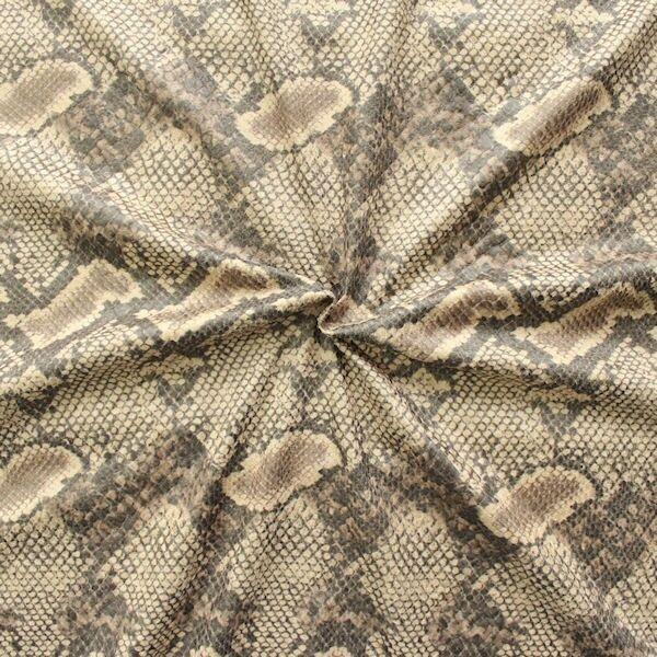Stretch Modestoff Snake  Beige-Grau