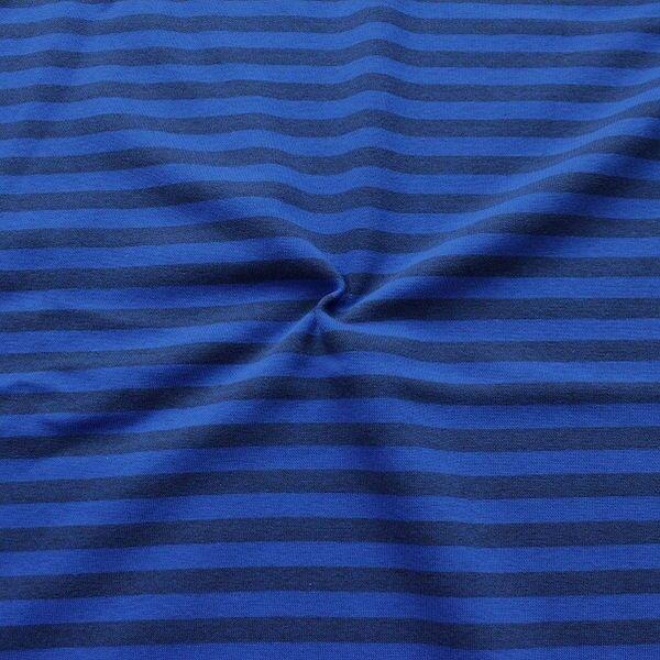 Sweatshirtstoff  Streifen Duo Melange Blau