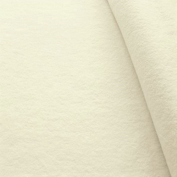 100% Baumwolle Fleece Season Classic Creme-Weiss