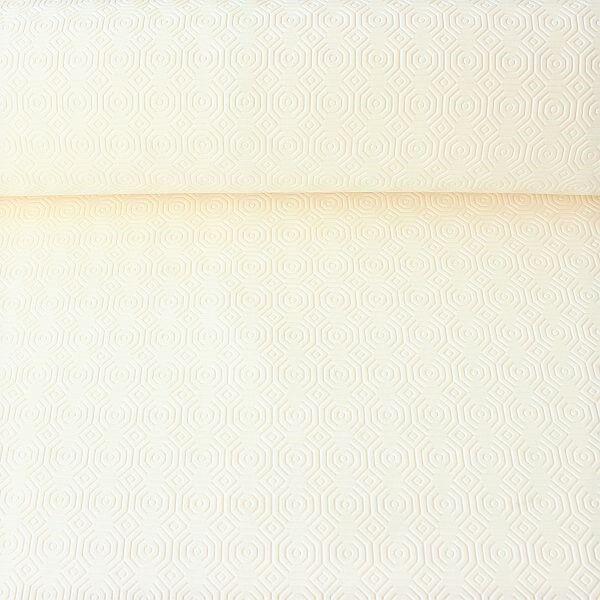 """Tischschoner Breite 157cm rutschhemmend, wasserdicht """"Oktagon"""" Farbe Creme-Weiss"""