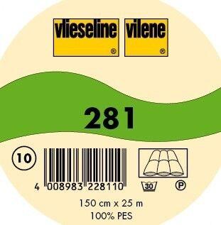 Vlieseline dickes Volumenvlies zum Einnähen Typ 281 Farbe Weiss