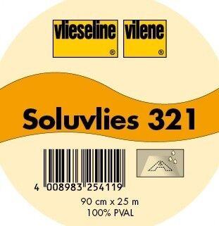 Vlieseline Soluvlies Stick- / Kreativvlies Typ 321 wasserlöslich Farbe Weiss-Transparent