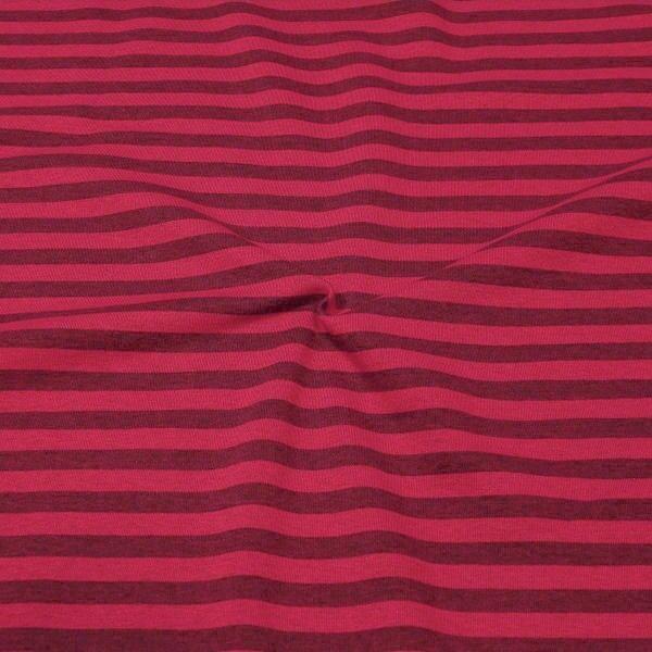 Sweatshirt Stoff Streifen Duo Melange Pink