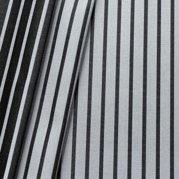 Taft Dekostoff  Doubleface Silver Line Silber-Grau Schwarz