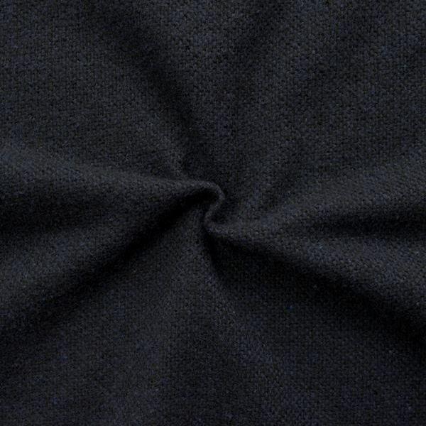 Tweed Wollmix Schwarz Blau