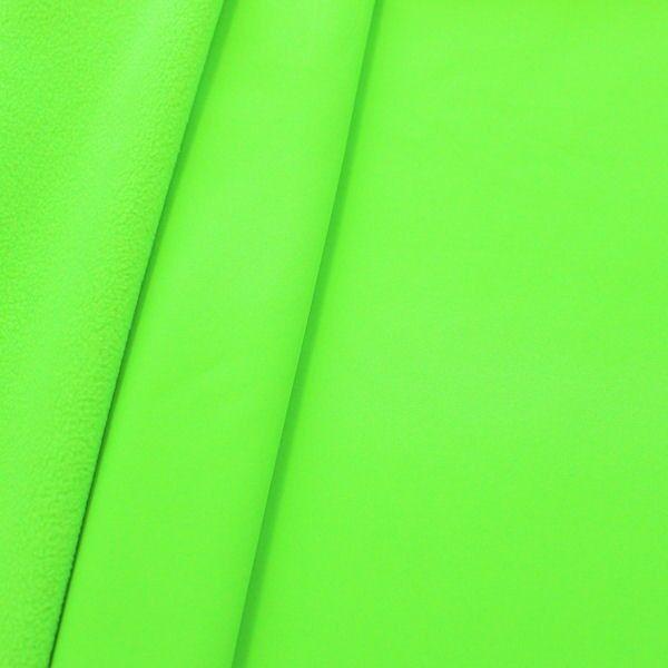 Softshell-Fleece-Stoff in Neon-Grün
