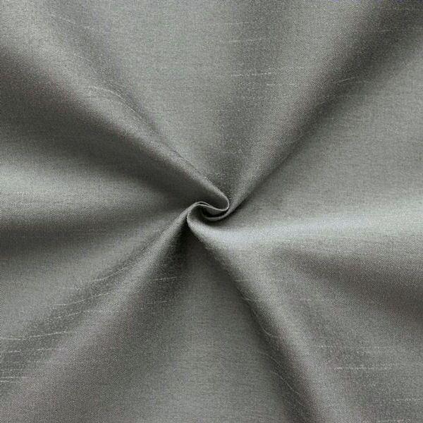 Kleider / Deko Taft Dupionseide Optik Farbe Silber-Grau