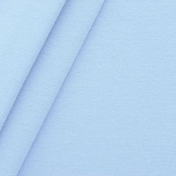 Baumwoll Bündchenstoff glatt Hell-Blau