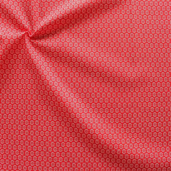 Baumwollstoff Sternblüten Rot