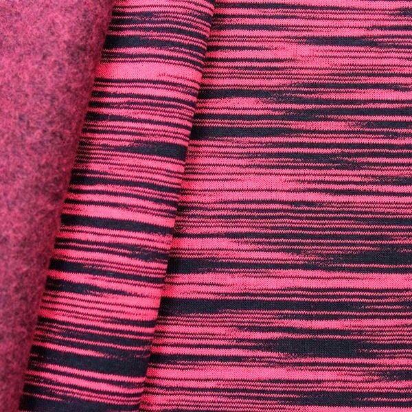 "Sweatshirt Baumwollstoff ""Two Tone"" Farbe Hot-Pink"
