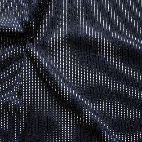 Modestoff Nadelstreifen Dunkel-Blau