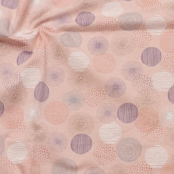 Baumwoll Stretch Jersey Pastell Dots Rosa
