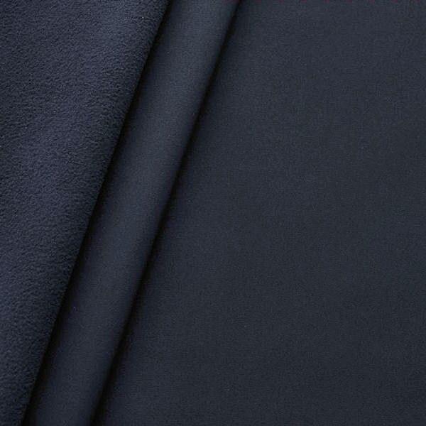Softshell Fleece Stoff Farbe Navy-Blau