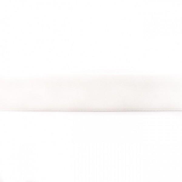 Samtband Breite 25mm Farbe Creme-Weiss