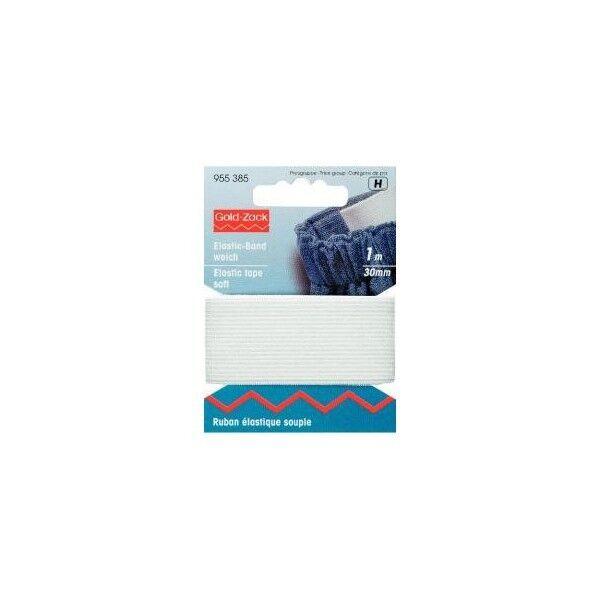 Prym 1m Elastic-Band weich 30mm breit weiß