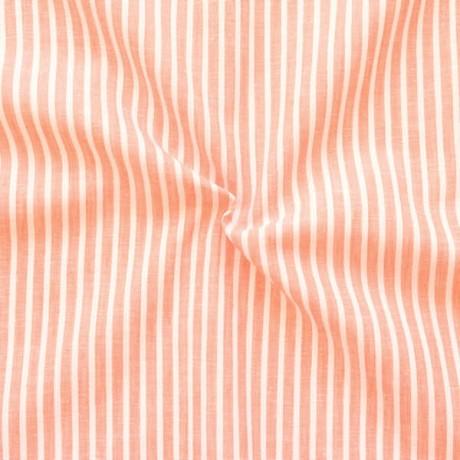 Leinen-Baumwolle Streifen Orange