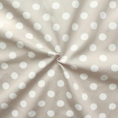 Baumwolle Köper Fashion Dots Beige