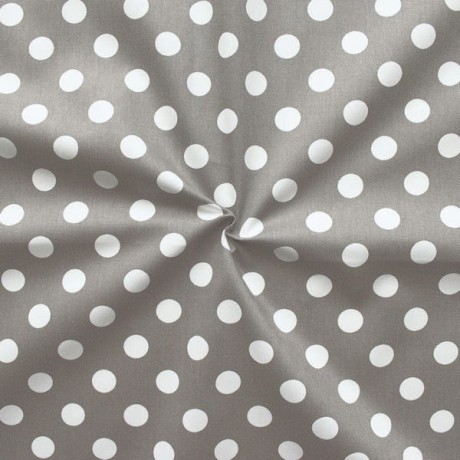 Baumwolle Köper Fashion Dots Taupe