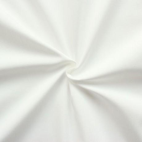 100% Baumwolle Popeline Creme-Weiss